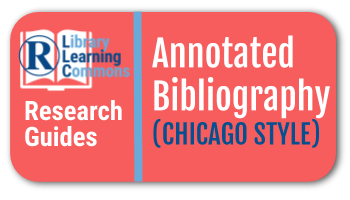Link to annotated bibliography research guide in Chicago Style